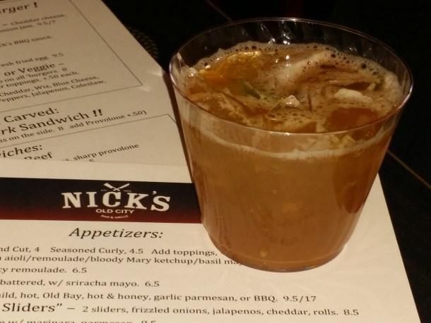 Nick's Old City Bar and Grille Maker's Splash