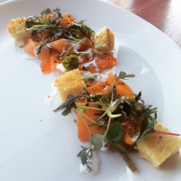 Salmon Dish at Dettera Ambler