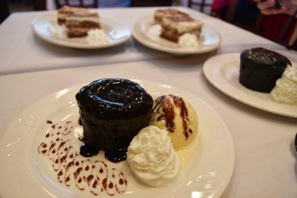 Chocolate Lava Cake and Tiramisu at Piccolo Trattoria
