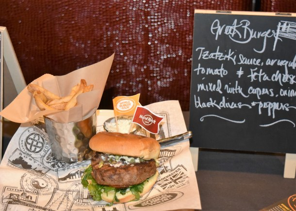 Hard Rock Cafe Greek Burger