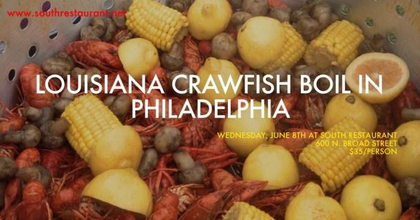 Louisiana Crawfish Boil at SOUTH