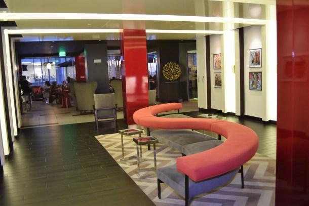 Art Lounge in the Lobby at Sonesta Hotel Philadelphia