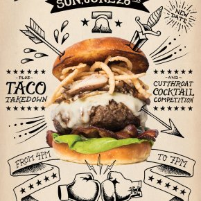 Burger Brawl & Taco Takedown 2016 This Sunday June 26th at XFINITY Live