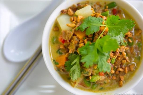 Hot Green Curry Seitan at Maya.J in Manayunk