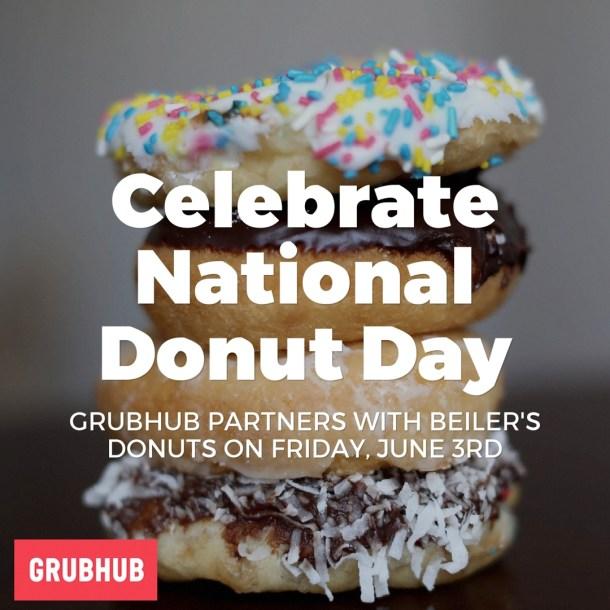 National Donut Day Beiler's Donuts & Grubhub