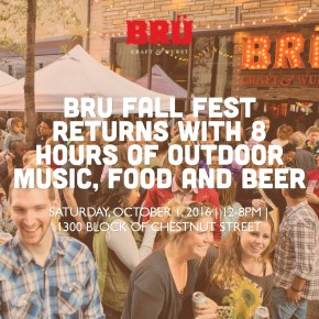 BRU Fall Fest Returns on October 1st with 8 Hours of Outdoor Music, Food and Beer