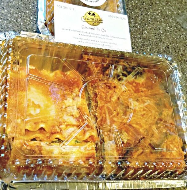 Fandessa Gourmet To Go Lasagna and Eggplant Parmigiana