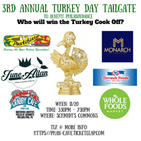 Bites, Brews and the Birds: The 3rd Annual Turkey Day Tailgate