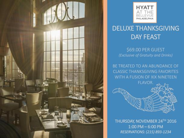 XIX Restaurant Thanksgiving Dinner