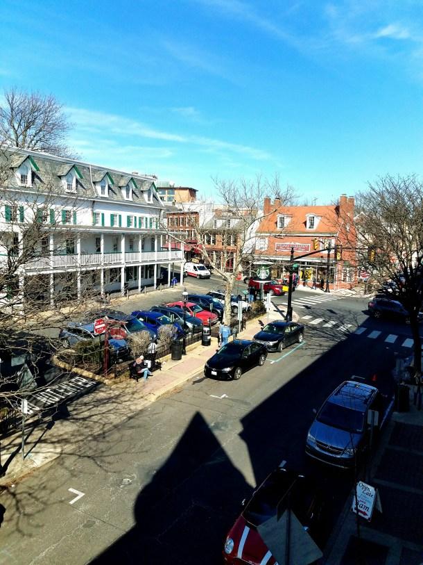 View of downtown Doylestown from Doylestown Inn