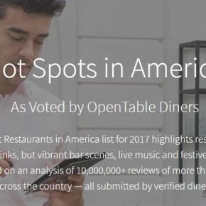 Two Philadelphia Restaurants on OpenTable's Top 100 Hot Spots in America