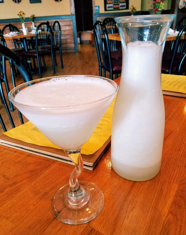 Pisco Sour at Quinoa Peruvian Mexican Restaurant in Doylestown, PA