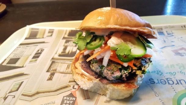 Banh Mi Burger at Wahlburgers