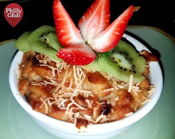 Bread Pudding Dessert at Mian Restaurant Sugar House Casino
