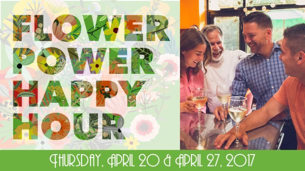 Flower Power Happy Hour in Chestnut Hill