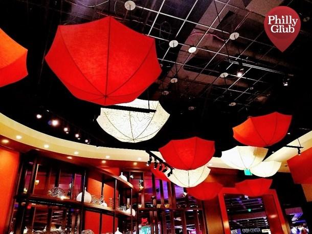 Mian Restaurant Sugar House Ceiling Umbrellas