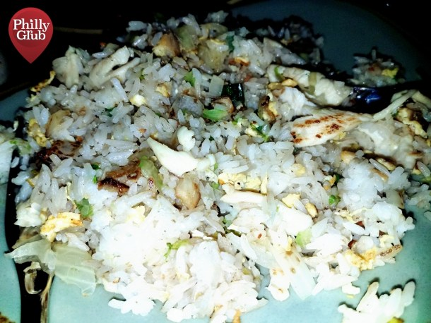 Salty Fish and Chicken Fried Rice at Mian Restaurant Sugar House Casino