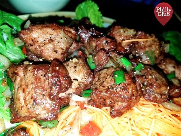 Vietnamese Beef Tenderloin at Mian Restaurant Sugar House Casino
