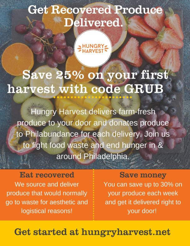 Hungry Harvest Ambassador Philly Grub