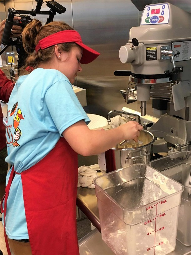 Duck Donuts Pouring Batter