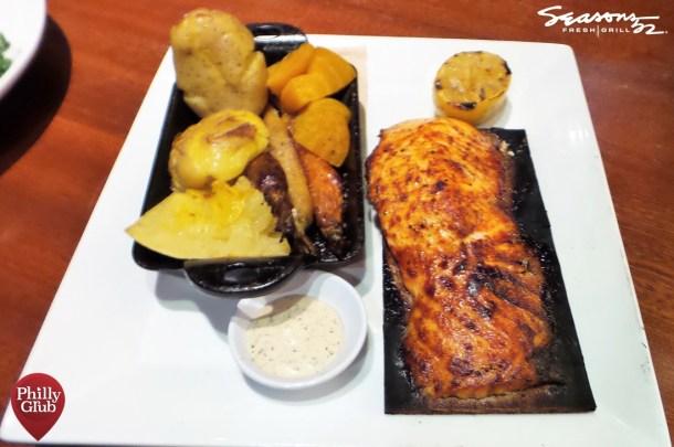 Seasons 52 Cherry Hill Mall Cedar Plank Salmon