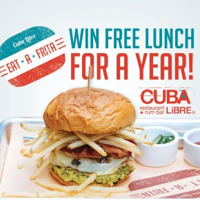 Cuba Libre Restaurant & Rum Bar to Award One Lucky Winner Free Lunch for a Year