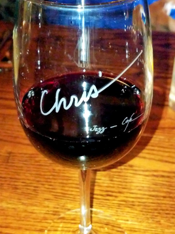 A Glass of Red Wine at Chris' Jazz Cafe in Philadelphia