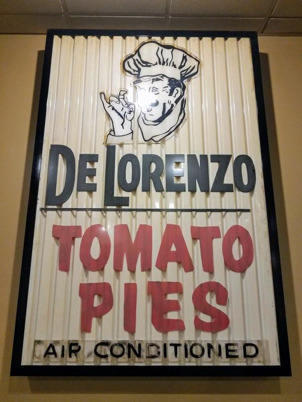 DeLorenzo's Tomato Pies Original Sign