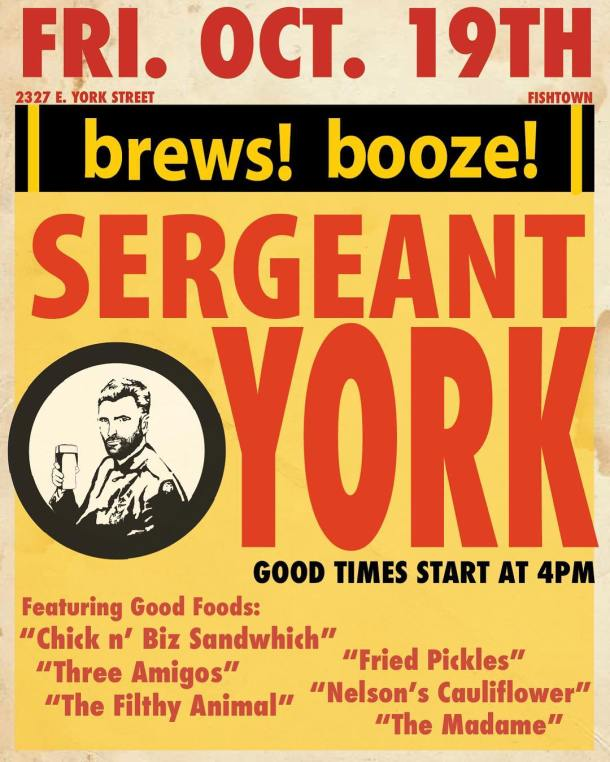 Sergeant York Fishtown Grand Opening