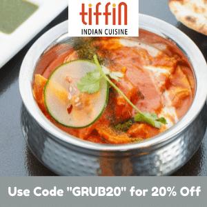 Get 20% Off Total Order at Tiffin Indian Cuisine!