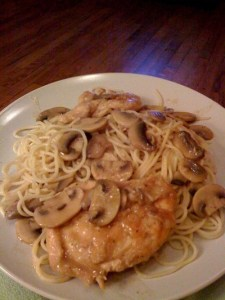 Chicken Marsala ala Marilyn