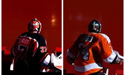 Brian Elliott Alex Lyon Flyers Goalies