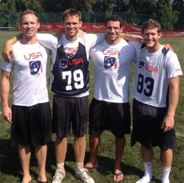 Pictured at Team USA Tryouts are 4 Springfield HS Grads. From Left to right they are Kyle Sweeney, Drew Adams, Greg Gurenlian & Austin Kaut.