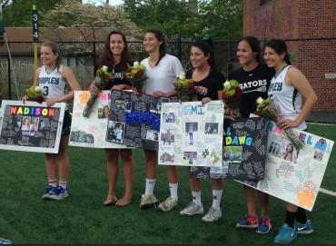 Shipley Seniors Demi Karalis, Alli Kothari, Anna Scutt, Rachel Shapiro, Madison Tucker, and Pinky Rowe were honored on Saturday.