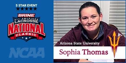 Cumberland Valley's Sophia Thomas (Arizona State), a member of the two-time PA National champs of Brine NLC