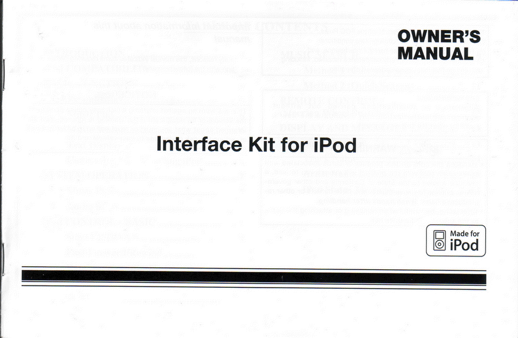 Details on the Toyota OEM iPod Interface + User Manual
