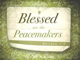 Image result for be a peacemaker