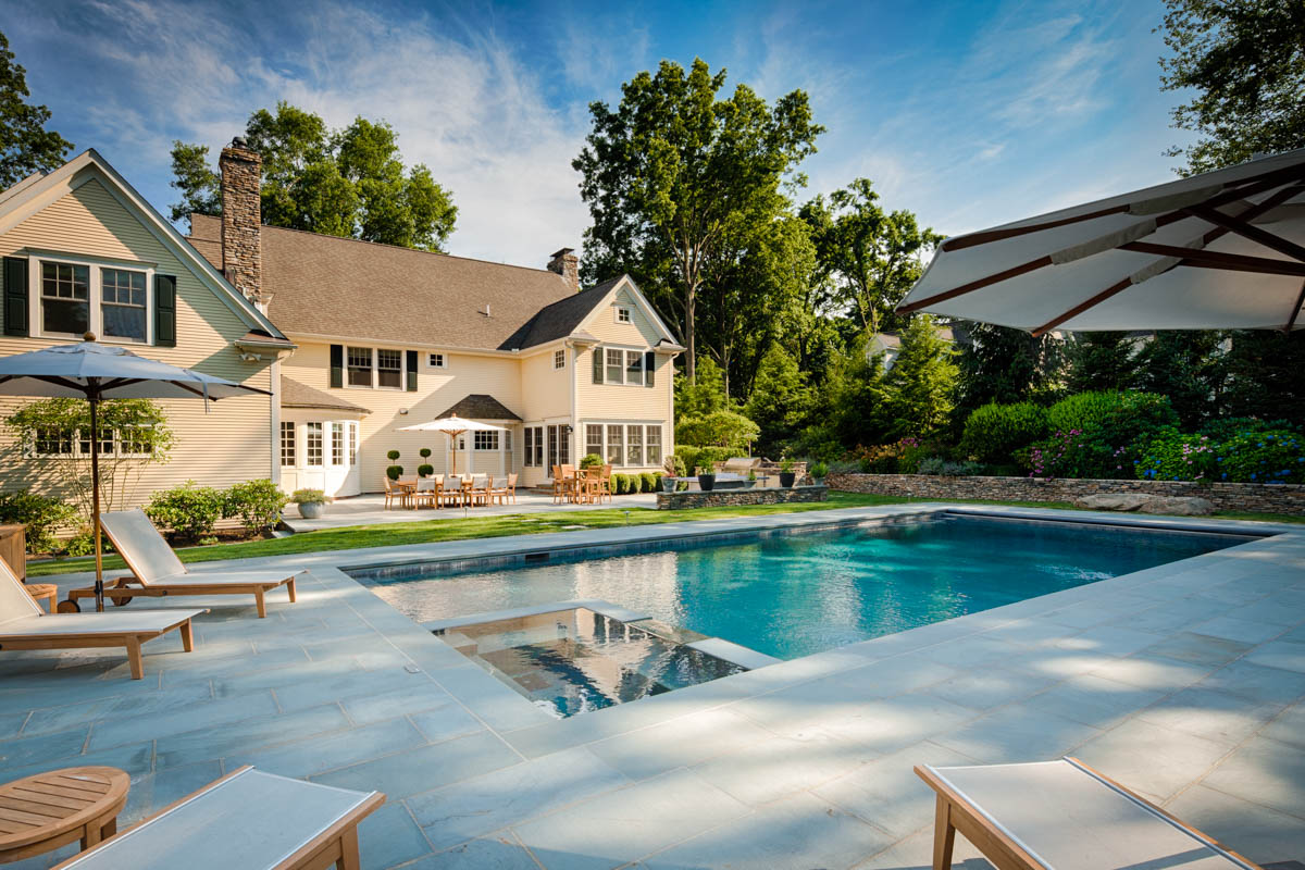 house and swimming pool
