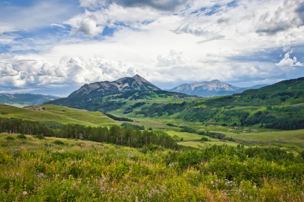 view of mt crested butte from the east