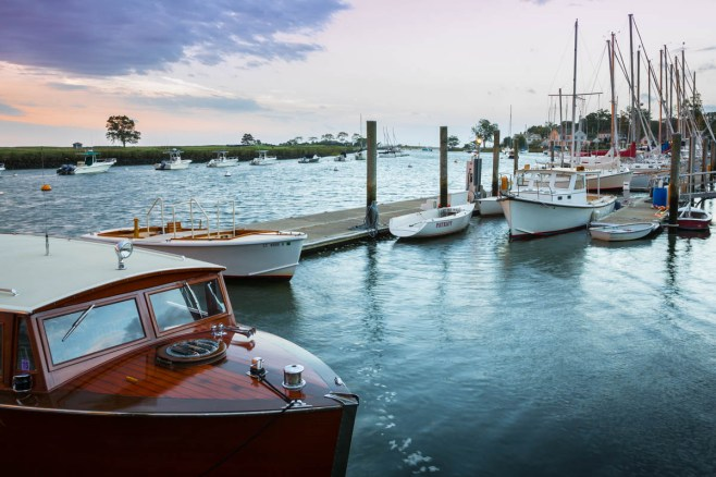 boats docked at pequot yacht club