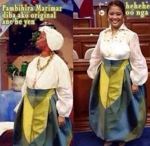 Nancy Binay Marimar nancy binay outfit during sona 2014 generates viral memes