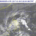 Satellite image of Typhoon Auring