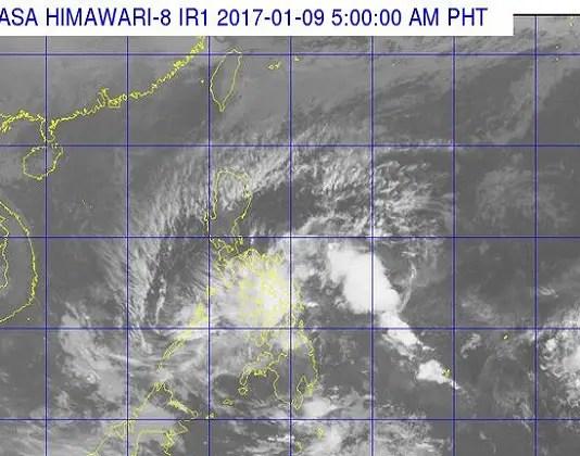 Satellite image of Typhoon Auring