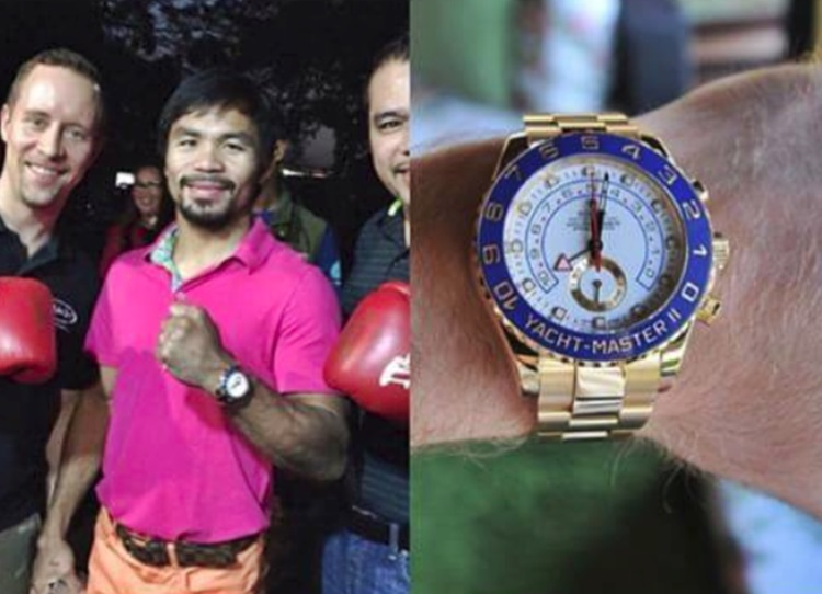 Manny Pacquiao's Gold Rolex Watch