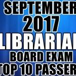 September 2017 Librarian Board Exam Top 10