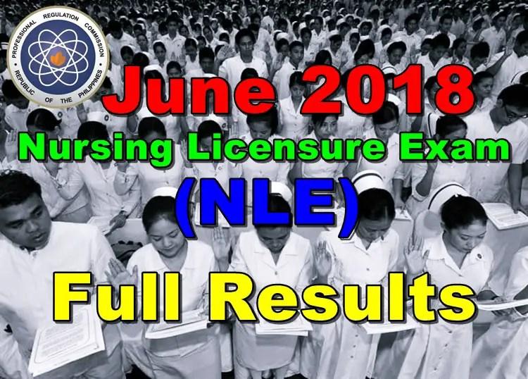 June 2018 Nursing Licensure Exam