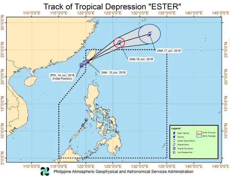 Tropical Depression Ester