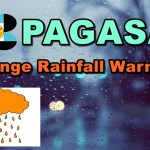 Orange Rainfall Warning
