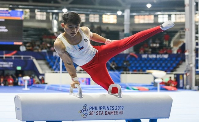 Sea Games 2019 Carlos Yulo S Routine In Pommel Horse Video