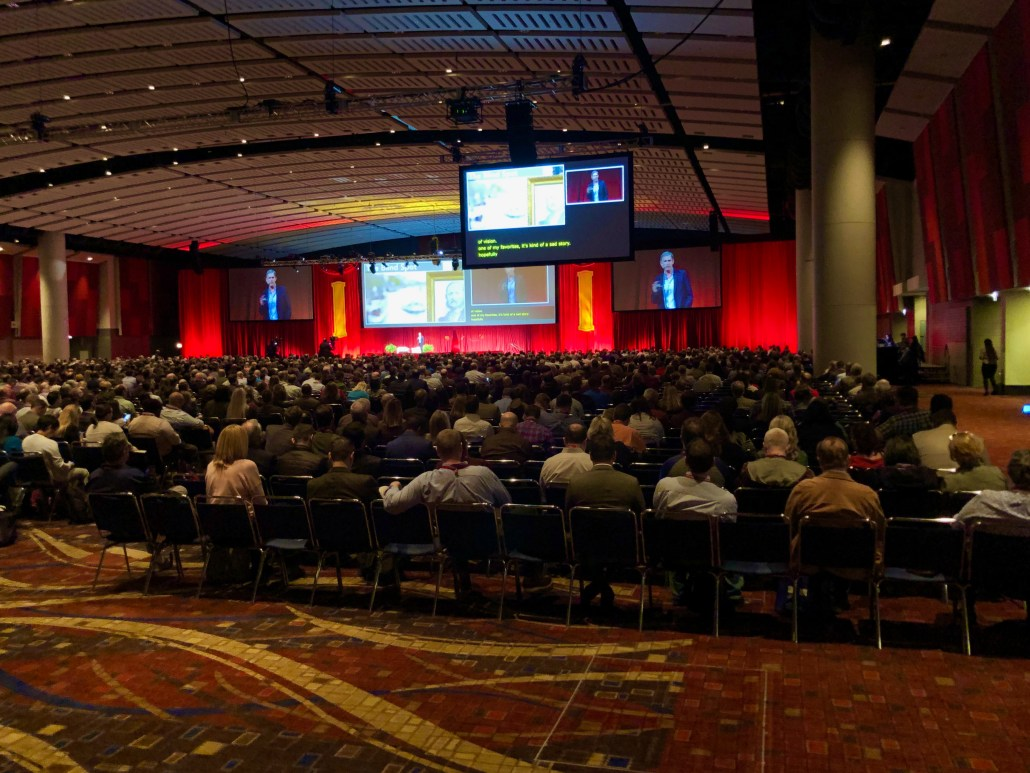 View of EDUCAUSE keynote session at #EDU19 in Chicago